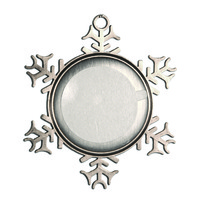 84010 Pewter Snowflake Ornament with insert