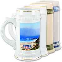22 oz. Beer Stein with Handle Trim