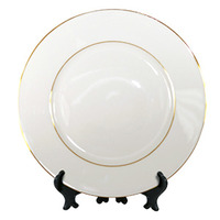 "10""  Decorative Plate with Gold Trim"
