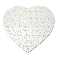 91103 - Blank Heart-shaped Puzzle