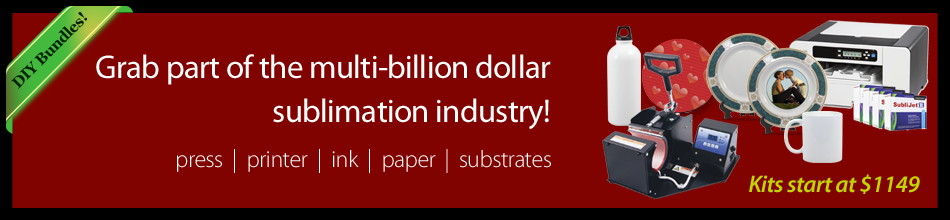 Get started in sublimation and get a part of the multi-billion dollar industry